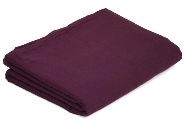 Buy Dark Plum Color Full Voile Fabric