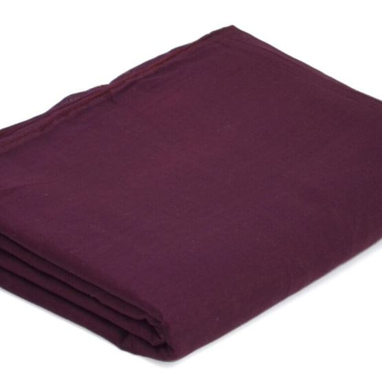 Buy Dark Plum Color Full Voile Fabric