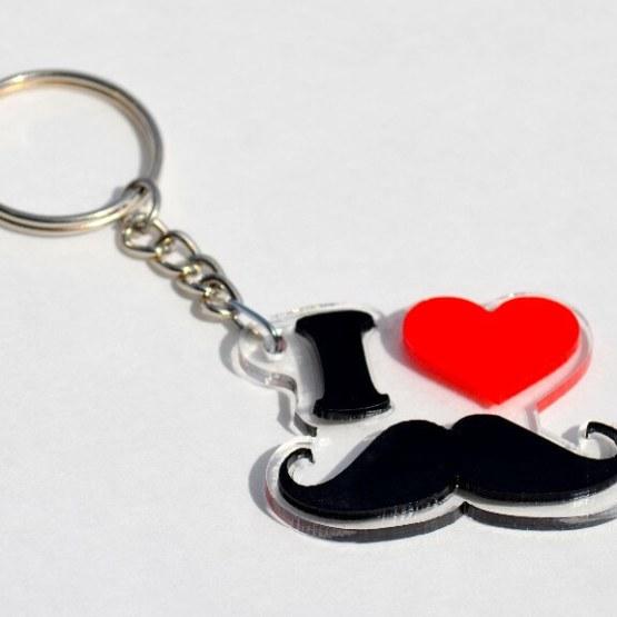 Buy Mustache Key Ring