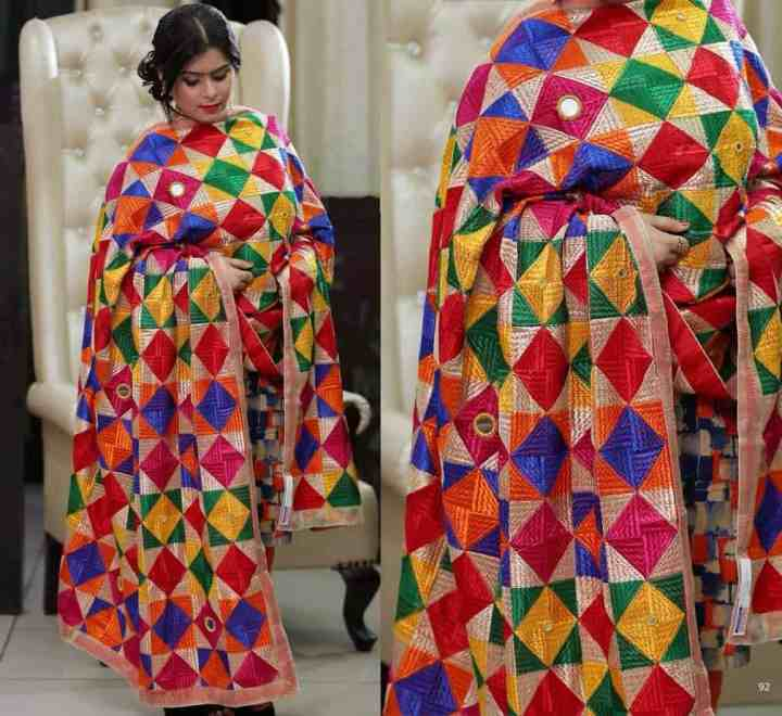 Modern Multi Color - Mirror Work Phulkari 1