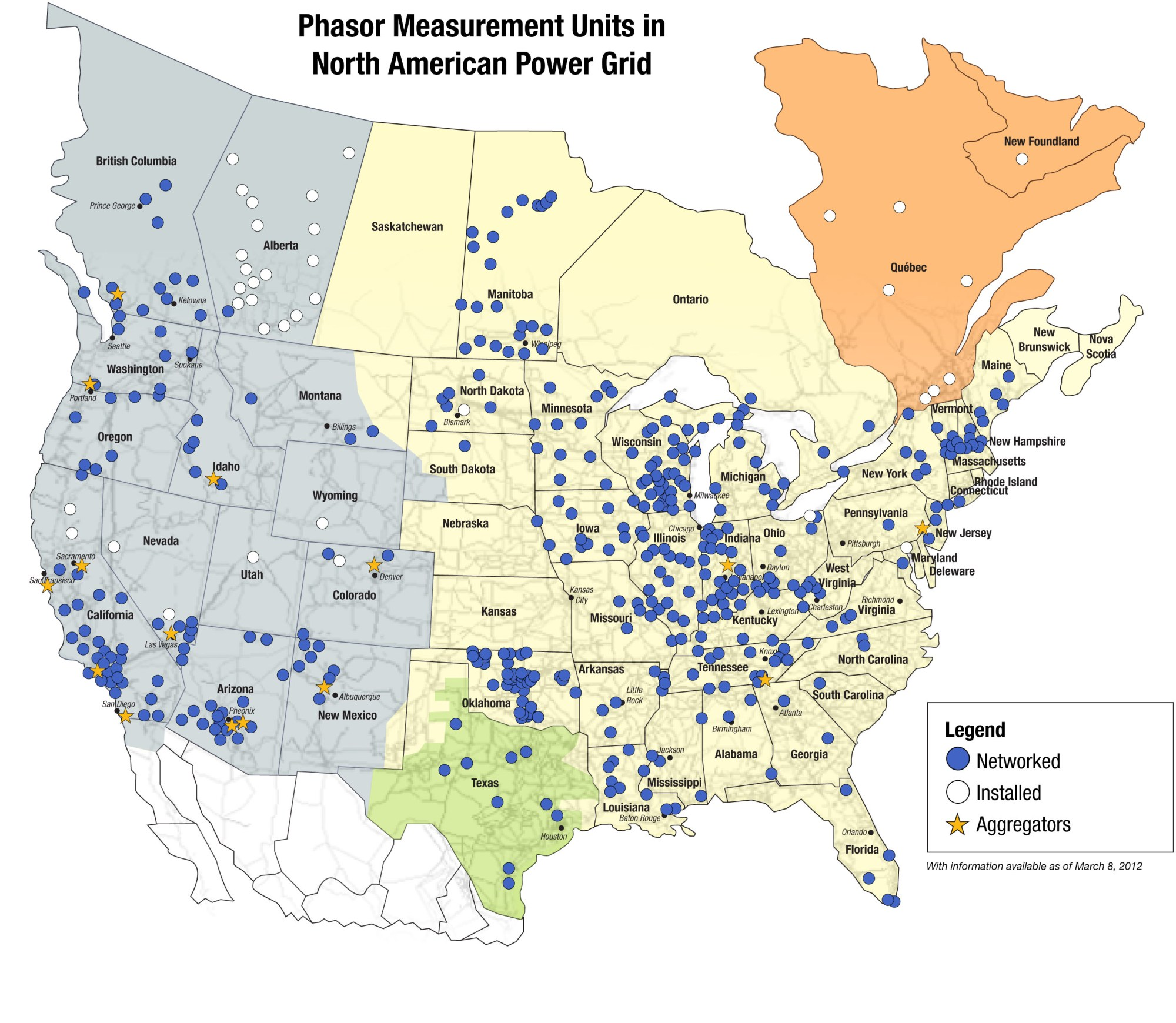 hight resolution of map of phasor measurement units in north american power grid as described in the article