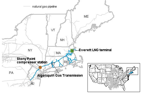Key New England natural gas pipeline reflects seasonal