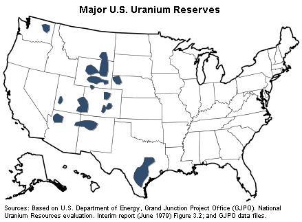 U.S. Uranium Reserves Estimates