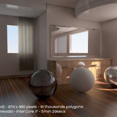 Hotel With Kitchen In Room Anti Fatigue Mat Global Illumination - Eias3d
