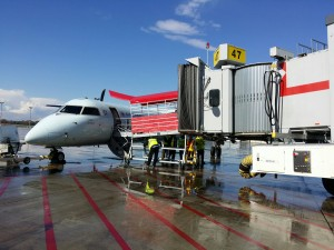 Q-400 Bridged Boarding in Canada!
