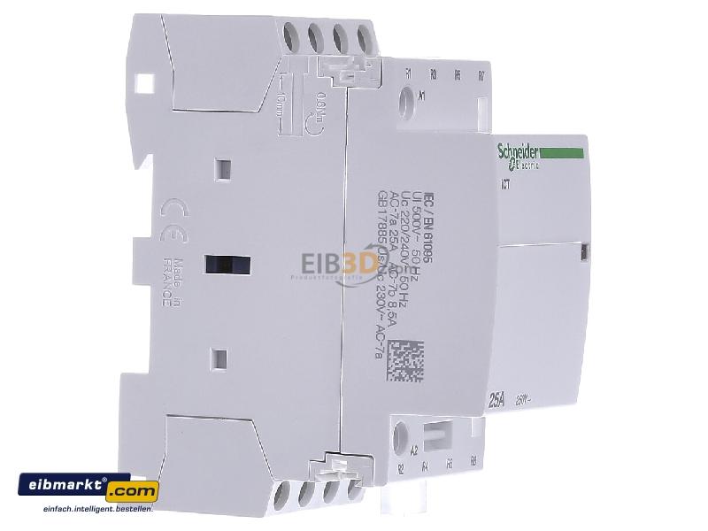 schneider ict 25a contactor wiring diagram honda xrm 125 motard eibmarkt com installation 220 240vac a9c20837 view on the left electric