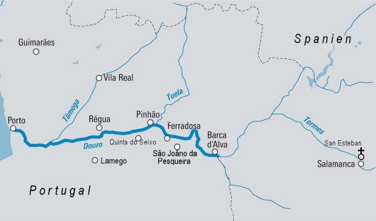 Bildergebnis für douro portugal Karte