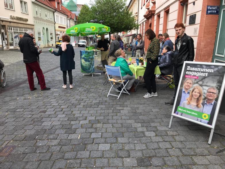 Kaffeetafel mit Katrin Göring-Eckardt am Vortag der Europa- und Kommunalwahlen.