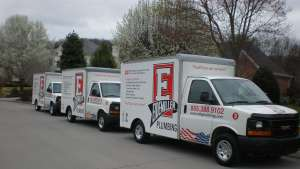 a fleet of eidemiller plumbing trucks in knoxville, tn