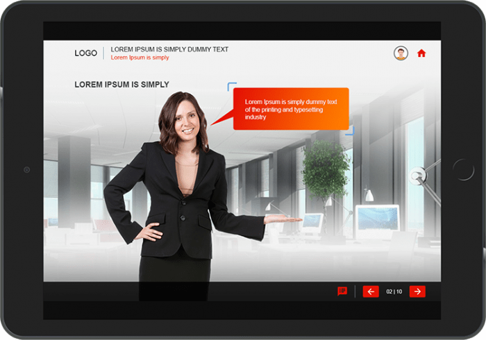 Storytelling in corporate training application simulation example 1