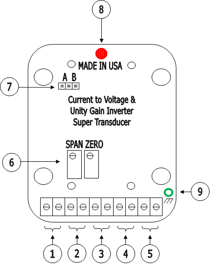Interface boardl 4-20mA current to voltage and unity gain
