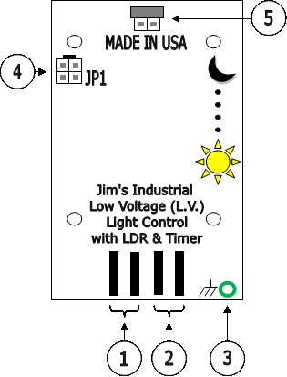 Interface board Jim low voltage light control with LDR and