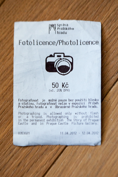 Photo Licence Chateau de Prague