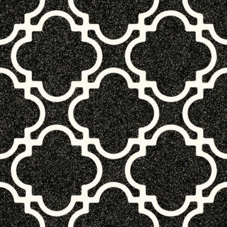 alameda bulnes grafito carrelage 20x20 cm aspect carreaux de ciment motif fleur