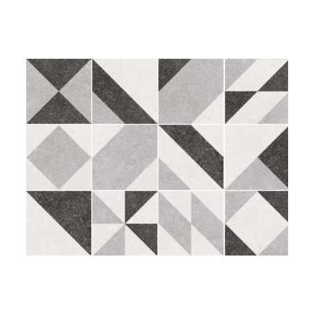 micro elements grey carrelage 20x20 cm patchwork imitation carreaux ciment geometrique gris