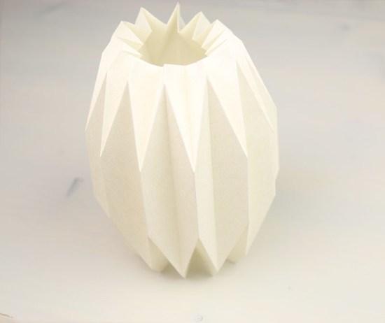 Origami/Plissee Vase Variante 1