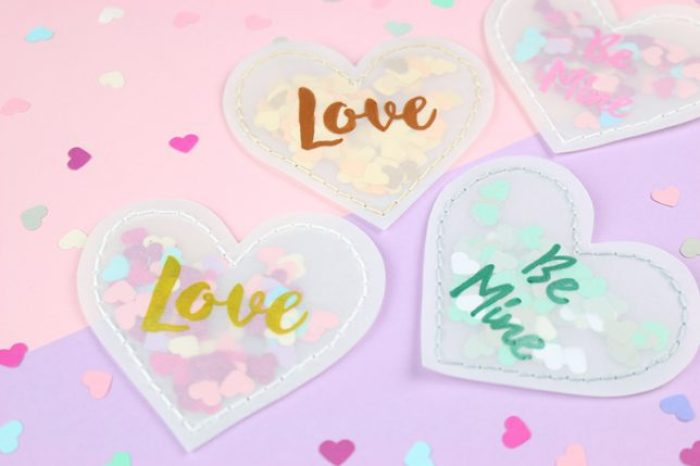 DIY Valentinstagsherzen aus Transparentpapier.