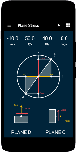 solid mechanics mohr circle civil engineering android apps