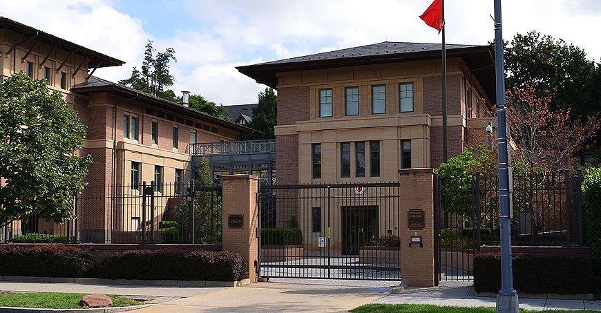 Image result for photos of turkish embassy in washington dc