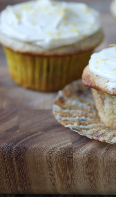 Lemon Blueberry Cupcakes with Cream Cheese Frosting