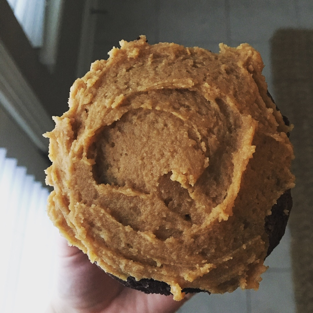 Ina's Chocolate Cupcakes with Peanut Butter Frosting