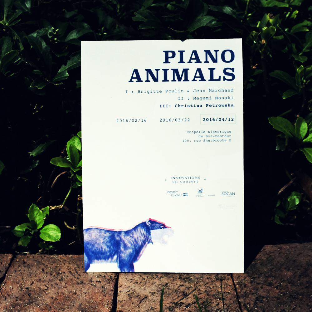 Piano Animals Poster C