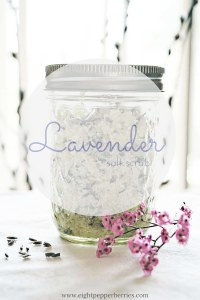 DIY 3 Step Lavender Salt Scrub