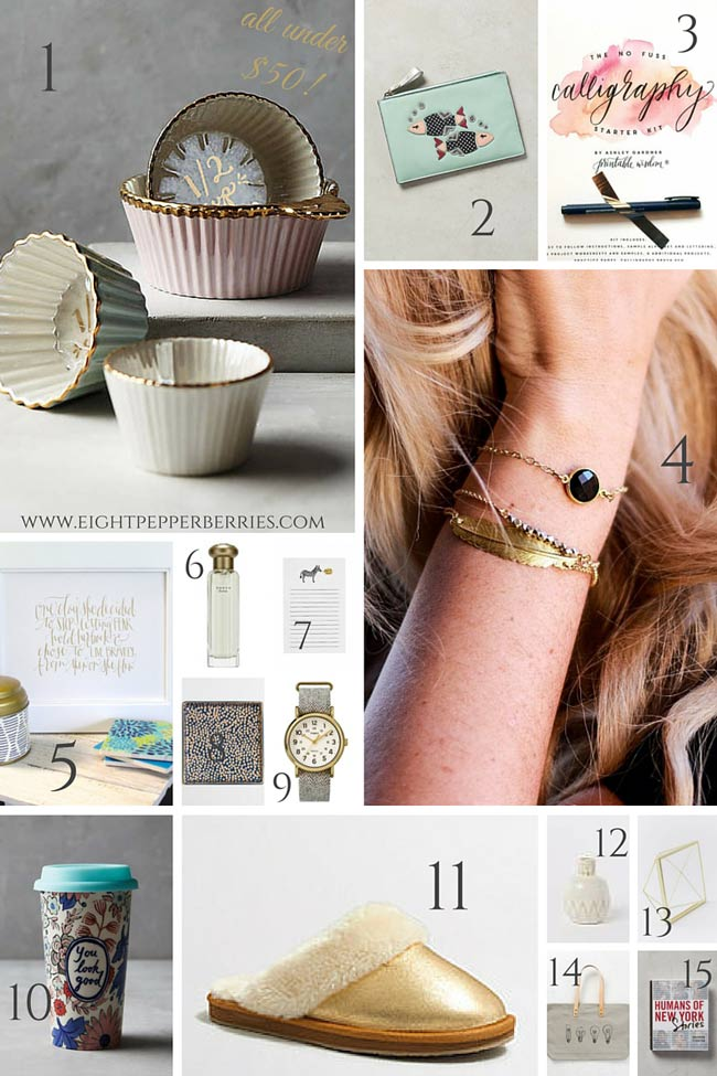 The Great Gift List For Her // Under $50!