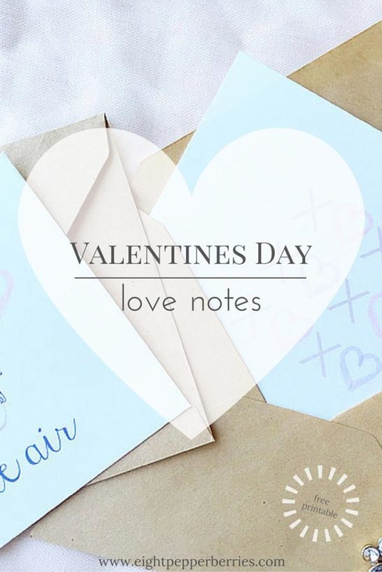 Spread love this Valentines Day with these free printable love notes >> Eight Pepperberries