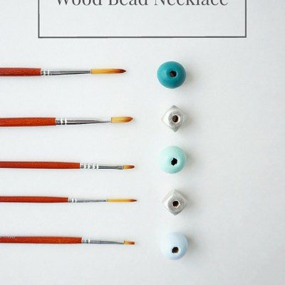 Anthropologie Inspired Wood Bead Necklace