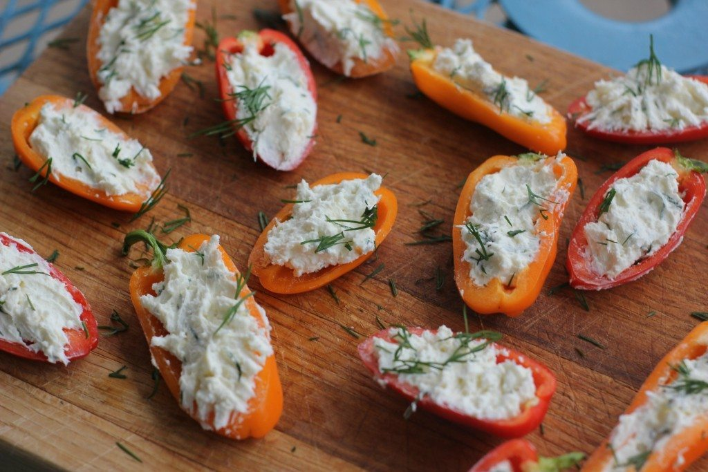 Creamy Stuffed Peppers by I Heart Vegateables >> featured on Totally Terrific Tuesday host by Eight Pepperberries.