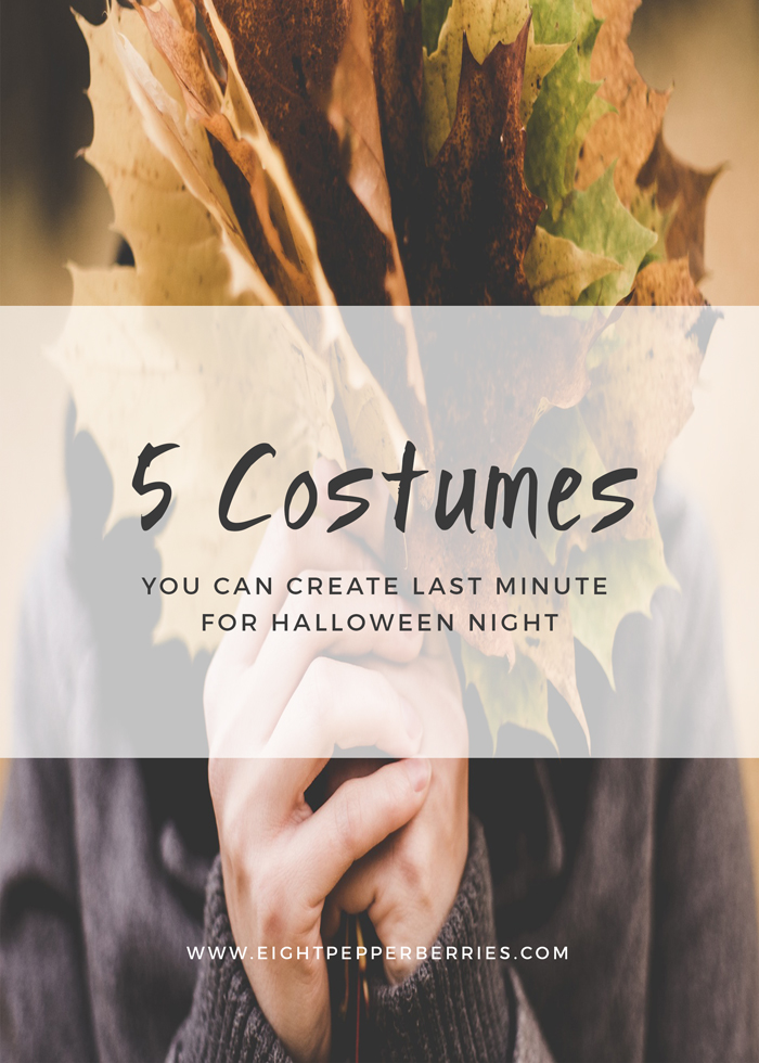 5 Last Minute Halloween Costume Ideas >> Eight Pepperberries blog