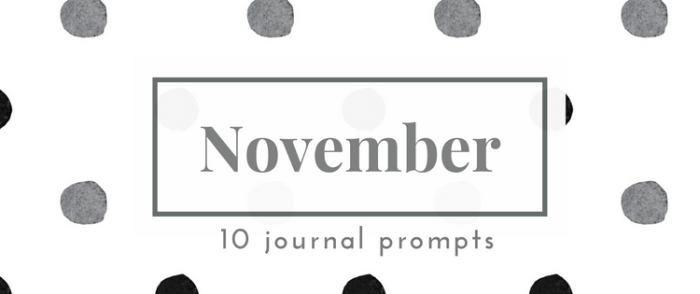 November Journal Prompts - Gratitude & Joy. New prompts released the beginning of each month >> Eight Pepperberries blog