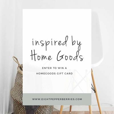 Inspired By Home Goods (Gift Card Giveaway)