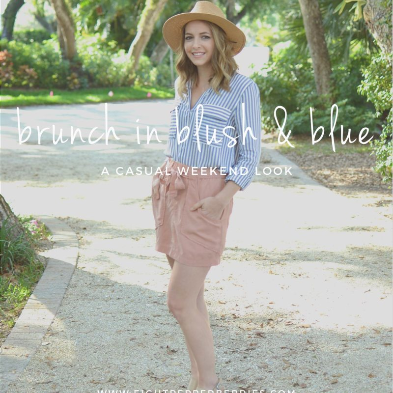 Brunch In Blush & Blue | A Casual Weekend Look >> Eight Pepperberries