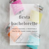 Fiesta Bachelorette Party Favors & Printable Truth or Dare Cards