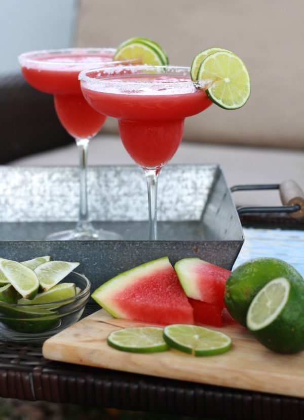 Watermelon Margarita Recipe by The Lucky Pear featured on Totally Terrific Tuesday Link Party hosted by Eight Pepperberries