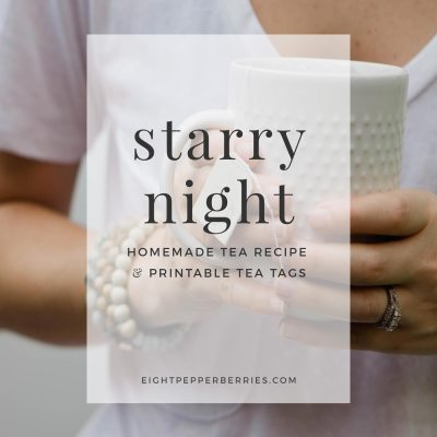 Starry Night Tea Recipe & Printable Tea Tags