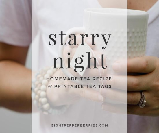 Starry Night Tea Blend Recipe & Printable Tea Tags >> Eight Pepperberries
