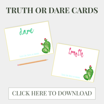 Fiesta Bachelorette Party Favors & Printable Truth Or Dare Cards >> Eight Pepperberries