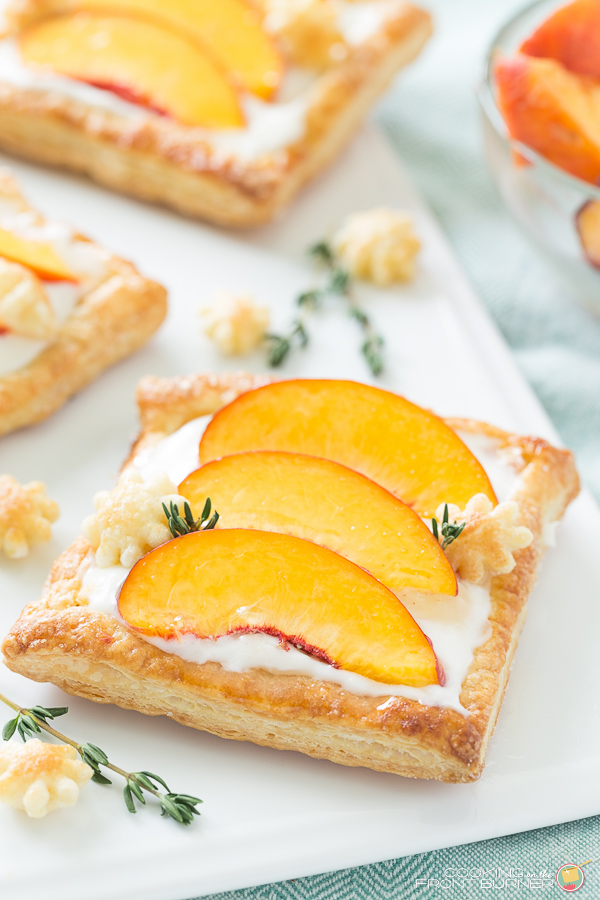 Fresh Peach Tart by Cooking On The Front Burner featured on Totally Terrific Tuesday hosted by Eight Pepperberries