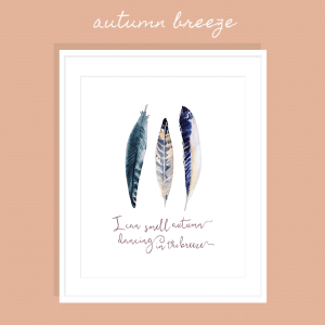Autumn Breeze FREE Printable Art Print >> Eight Pepperberries