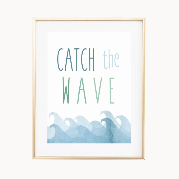 Catch The Wave Art Print by Eight Pepperberries Paperie    Available in three 4x6, 5x7, 8x10