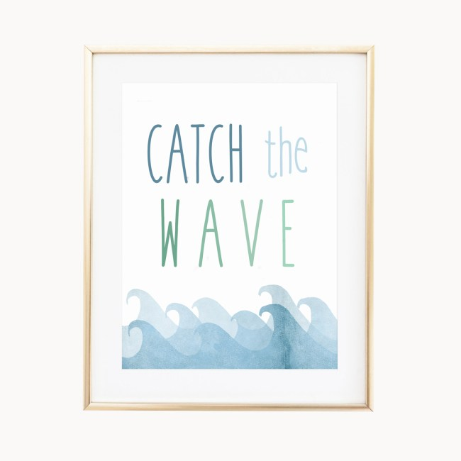 Catch The Wave Art Print by Eight Pepperberries Paperie || Available in three 4x6, 5x7, 8x10