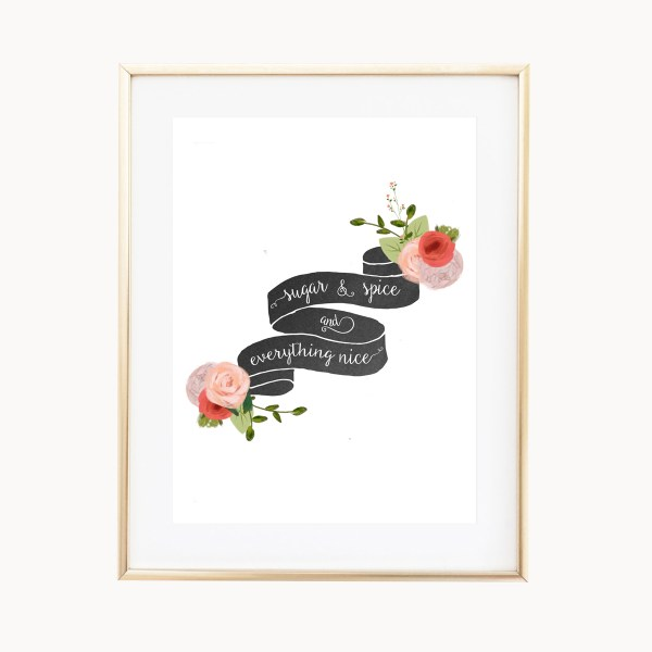 Sugar & Spice Art Print by Eight Pepperberries Paperie || Available in three 4x6, 5x7, 8x10 || Print at home option available