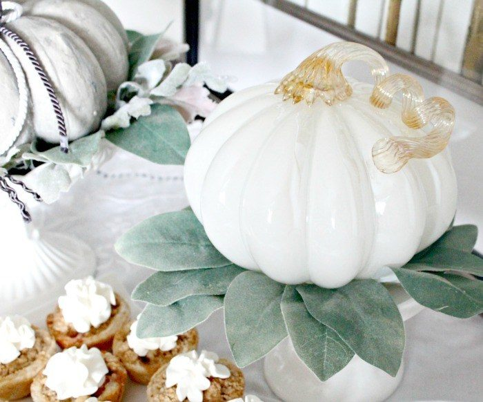 Pumpkin Arrangements & Apple Cream Tarts by Faeries & Fauna featured at the Totally Terrific Tuesday Link Party hosted by Eight Pepperberries