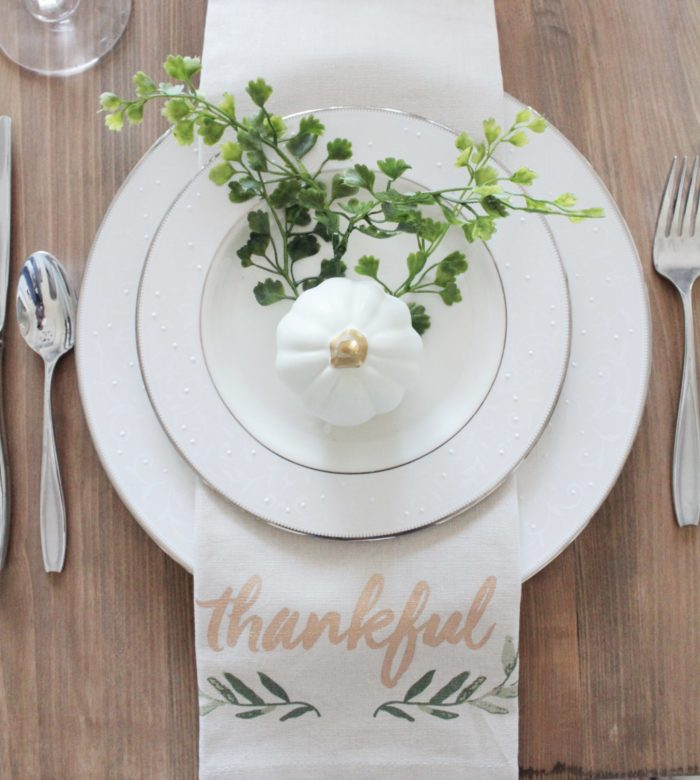 Fall Table Setting from the Target Dollar Spot by Repurposed and Upcycle featured at the Totally Terrific Tuesday Link Party hosted by Eight Pepperberries