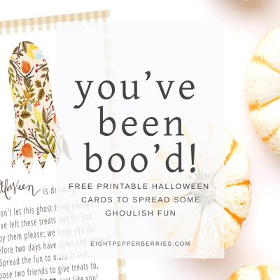 You've Been Boo'd {free printable card}