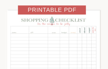 Printable Holiday Shopping Checklist    Stay organized this holiday season with this FREE printable shopping checklist srcset=