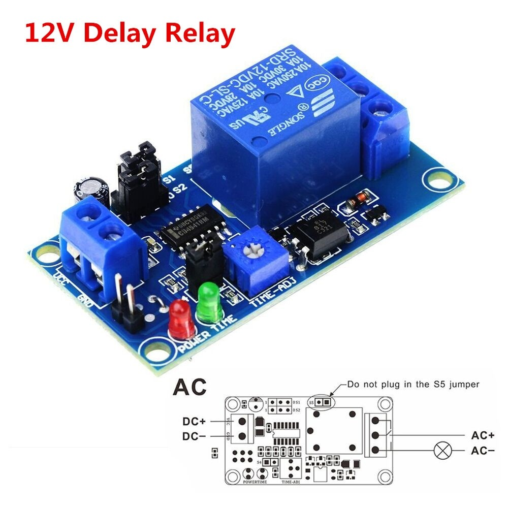 On Time Delay Relay Circuit In Addition On Delay Timer Circuit Diagram